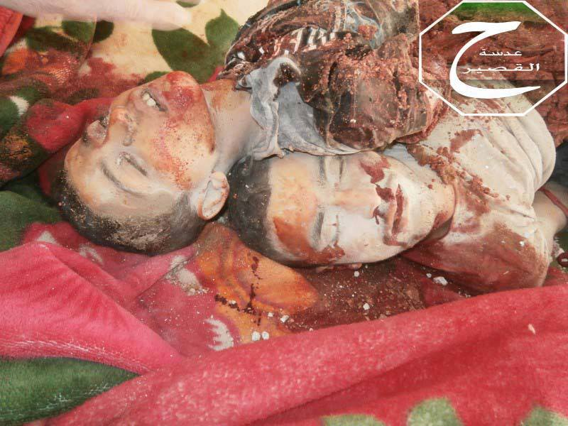 May 21 - Qusayr - Homs - Yahya and  Khalid AbdelMuti al-Khatib - Died in Assad's Aerial Bombardment of City - Kulluna Hamzah
